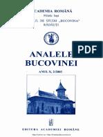 10-2. Analele Bucovinei, An X, Nr. 2 (2003)