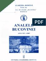 14-1. Analele Bucovinei, An XIV, Nr. 1 (2007)