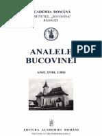 18-1. Analele Bucovinei, An XVIII, Nr. 1 (2011)