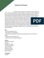 UX100 SAP Fiori Introduction (on-Premise)