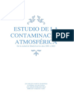 Estudio de La Contaminación Atmosférica de