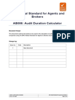 BRC Global Standard for Agents Brokers - Audit Duration Calculator