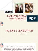Parent's and New Generation