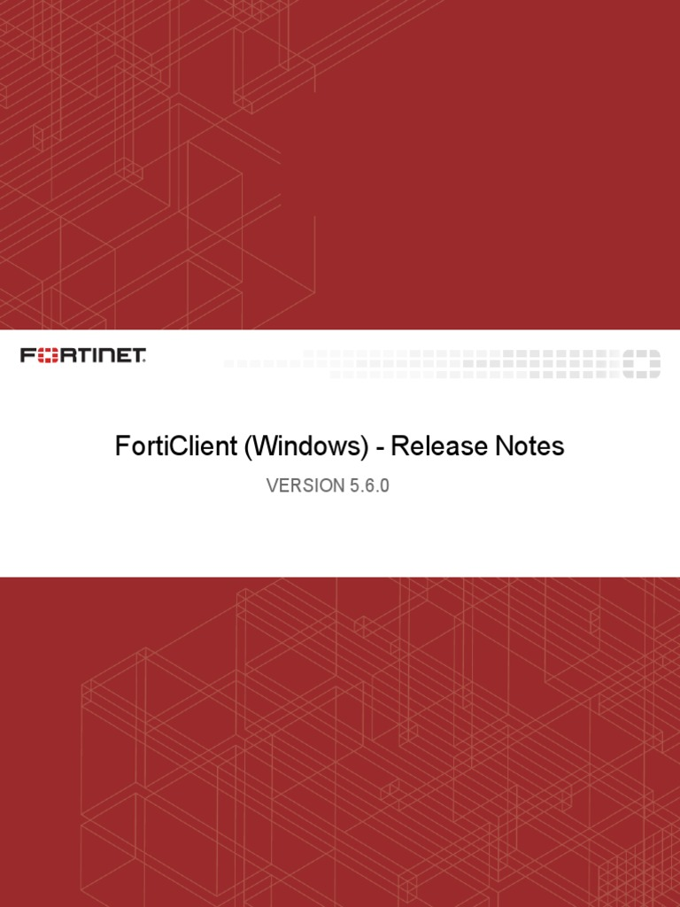 Forticlient 5 6 0 Windows Release Notes | Transport Layer Security