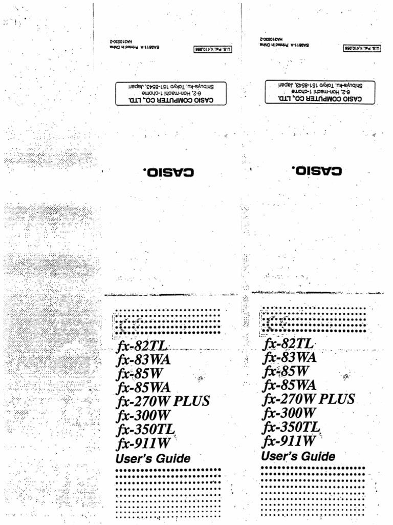 Manual casio fx-82tl pdf.