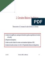 2a. Circuitos Basicos Analogicos 2011-2012 2 Sem