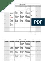 WFP 2017 Meeting Schedule