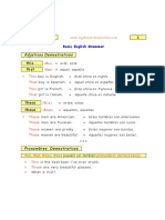 Lesson 18 This That These Those Adjetivos y Pronombres Demostrativos