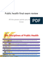 Public Health Final Exam Review
