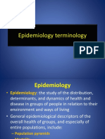 2 Epidemiology Terminology
