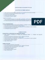 Requisitos Cédula Docente