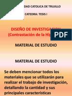 1. Diseño de Investigación (Contrastación de La Hipótesis). Material de Estudio. Power