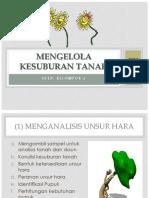 Mengelola Kesuburan Tanah Kel 3