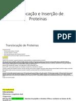 Translocação e Inserção de Proteínas