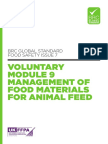 BRC Global Standard Food Safety Issue 7 Voluntary Module 9 Management of Food Materials for Animal Feed UK