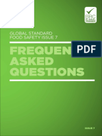 BRC Global Standard for Food Safety Issue 7 FAQs