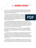 1000 Words Essay