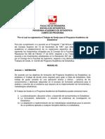 Reglamento de Trabajo de Grado Del Programa de Estadística