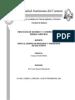 Reporte de La Vsista Del Centro de Proceso y Transporte de Gas Atasta