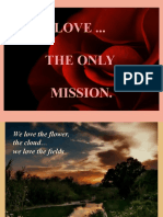 LOVE THE ONLY MISSION
