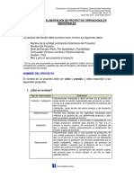 Estructura de Proyectos Vers. 008 2016