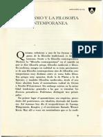 El Tomismo y La Filosofia Contemporanea, Fr Reginald Garrigou-Lagrange OP