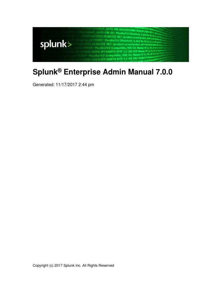 Splunk 7 0 0 Admin Admin Manual | Command Line Interface