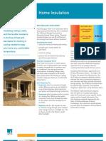 Home Insulation Fact Sheet