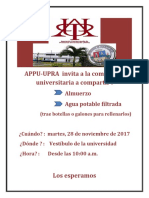 Appu-upra Almuerzo 28 Nov 2017