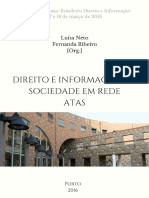 Direito e Informacao Na Sociedade Em Rede- Atas Direito e Informacao Na Sociedade Em Rede- Atas