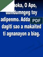 Agsaoka, o Apo