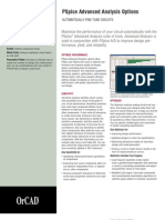 OrCAD PSpice Advanced Analysis