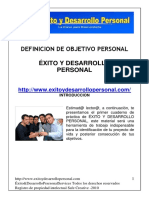 Definir Objetivo Personal