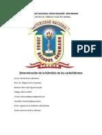 5to Informe de Ciencias Determinación de La Hidrolisis de Los Carbohidratos TERMINADO (1)