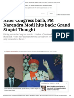 After Congress Barb, PM Narendra Modi Hits Back_ Grand Stupid Thought _ the Indian Express