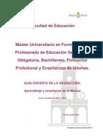 Master-Form_prof-GUÍA DOCENTE Aprendizaje y Enseñanza de La Música _M