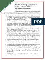 db post observation form