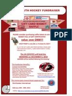 Jr Coyotes Gift Card Flyer