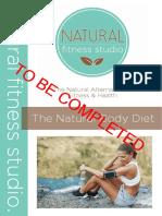 Natural Body Diet - Tbc