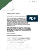 [Modelo] Petição Inicial Trabalhista