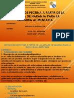 diapositivas de pectina