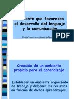 Ambientación Que Favorezca El Cambio Del Lenguaje y La Comunicación