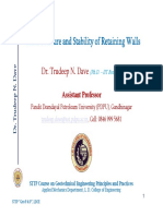 5.Earth Pressure and Stability of Retaining Wall(Dr. Trudeep Dave)