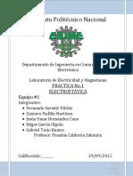 Reporte Practica N°1 Electrostatica