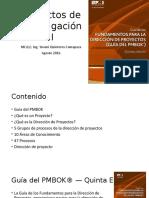 1. Introduccion a Proyectos de Investigación II PMBok 5 Edicion