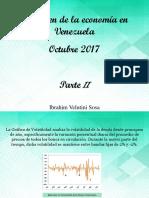 Resumen de La Economía en Venezuela, Septiembre 2017, Parte II