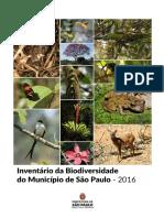 Inventário Da Biodiversidade Do Município de SP 2016 Prefeitura