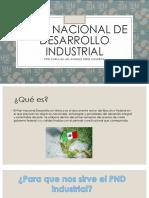 Plan Nacional de Desarrollo Industrial