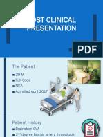 post clinical presentation