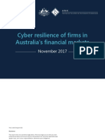 ASIC Cyber Security Report 555 Published 30 November 2017